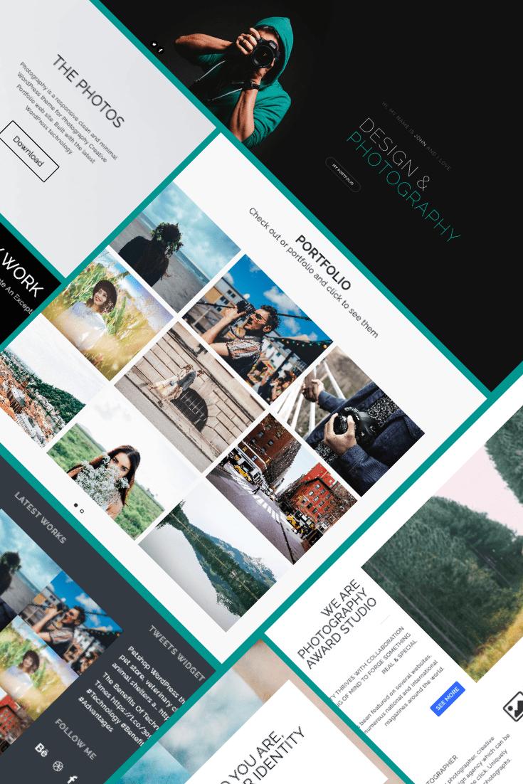 Photography WordPress Theme - $25. Collage Image.