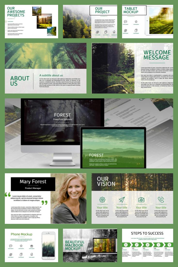 130+ Uniqu Forest Slides – PowerPoint Template + BONUS