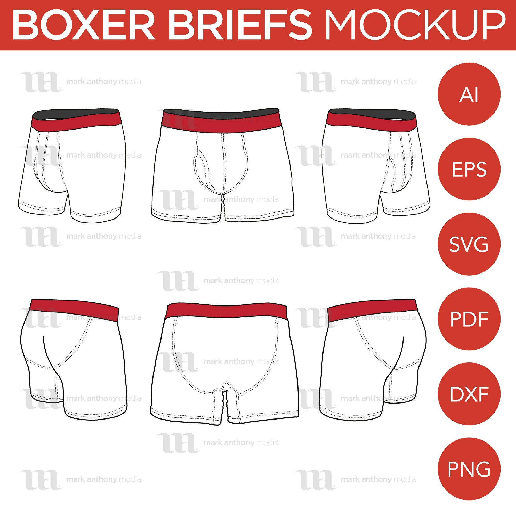 Photoshop Boxer Briefs Mockup