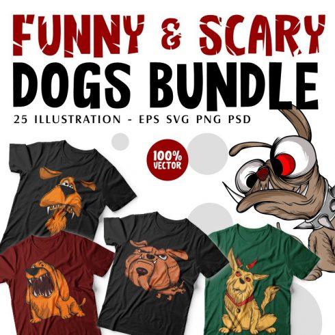 Dog T-shirt Designs Bundle