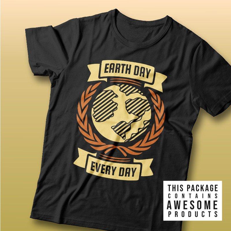 Earth Day T-shirt Designs Bundle