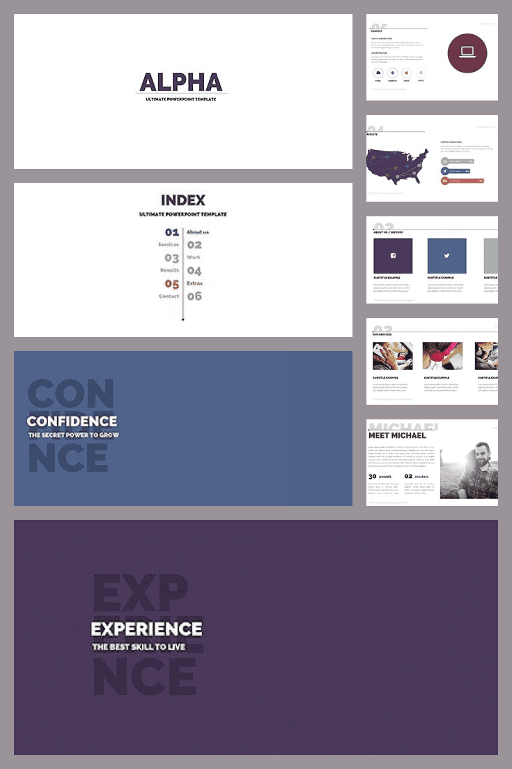 20 Powerpoint Templates with 81% OFF. Collage Image.