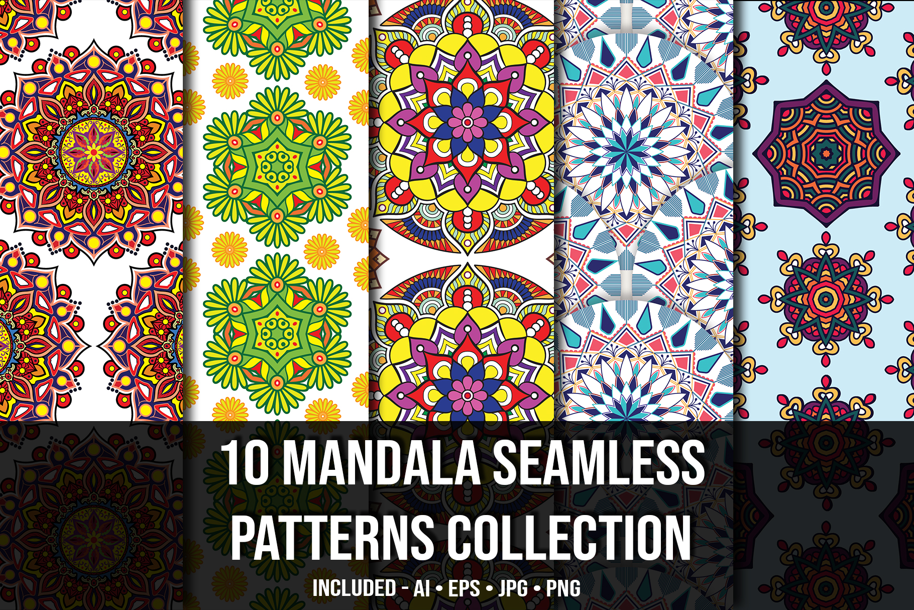 Mandala seamless collection.
