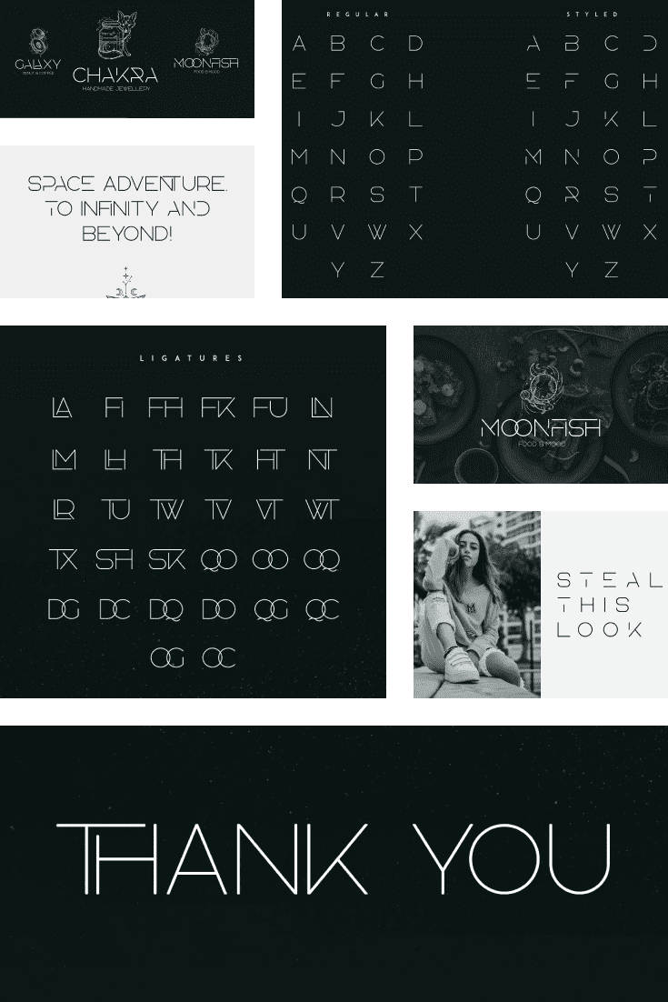 Agelast Display Font + 10 Graphics. Collage Image.