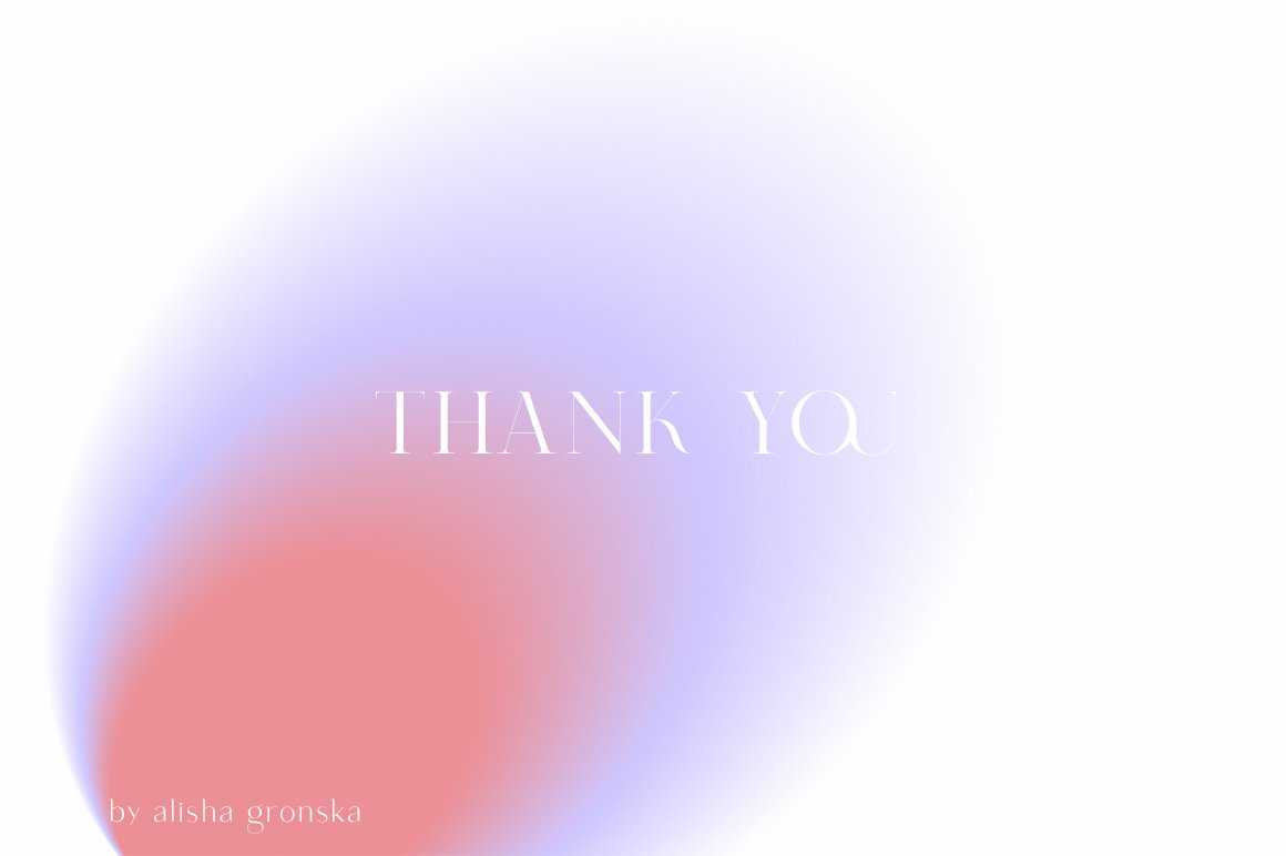 White background and lilac-red gradient. Looks like grace.