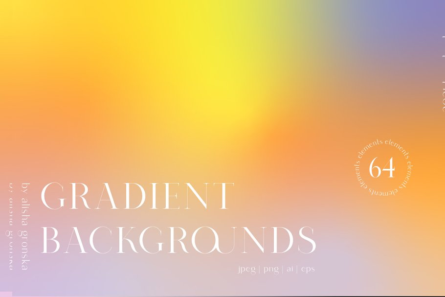 Yellow, orange, lilac ... This gradient is bought by emotions and passions.
