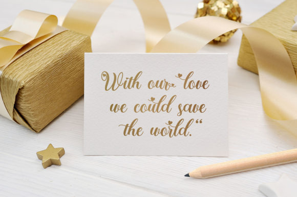 Beautiful white background with gold ribbons and an inscription in gold color.