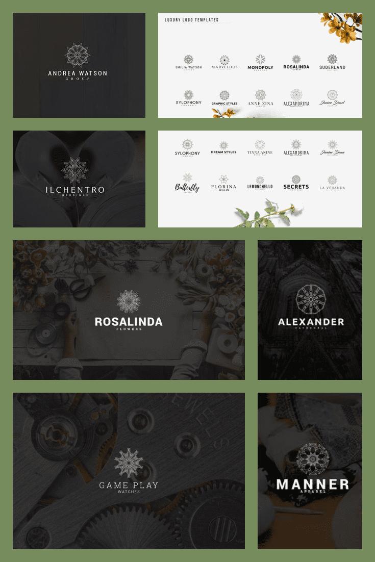 30 Luxury Logo Templates. Collage Image.