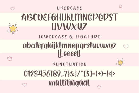 General view of the font in different variations.