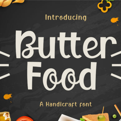 Butter Food Network Font Example.