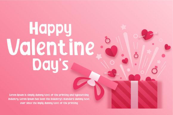 Valentine's day banner for advertising.