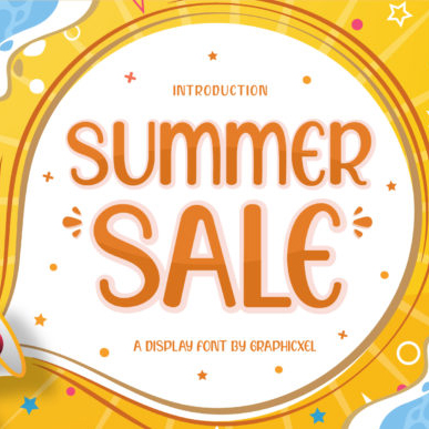 Summer Sale Caribbean Font Example.