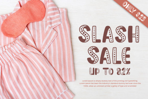 Pajamas in pink stripes with a sleep mask and an inscription in a stylish font.