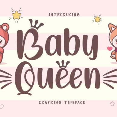 Baby Queen Cartoon Font.
