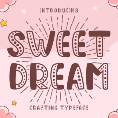 Sweet Dream baby blocks fonts Example.