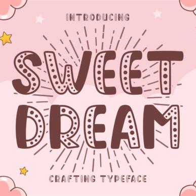 Sweet Dream baby blocks fonts Example.