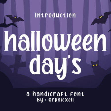 Halloween Day's Batman Font Example.