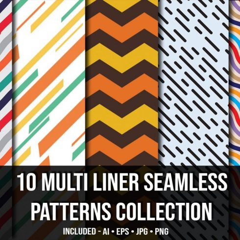Multi Liner Seamless Patterns Collection