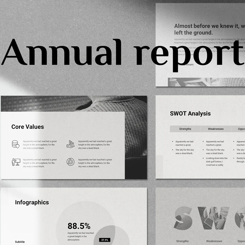 Annual Report - Animated Template