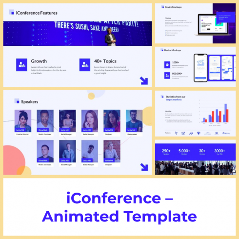 4 iConference – Animated Template