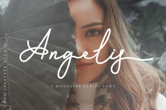 Beautiful girl such as this font. Monoline Script Font.