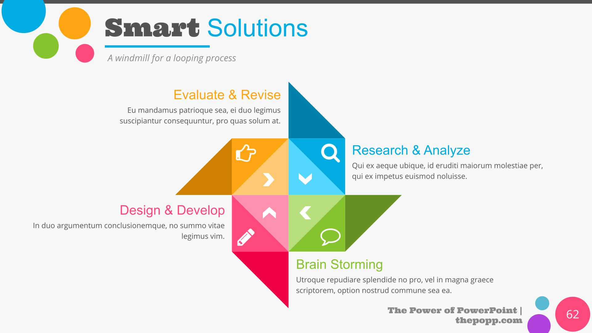 Infographic for smart solutions.