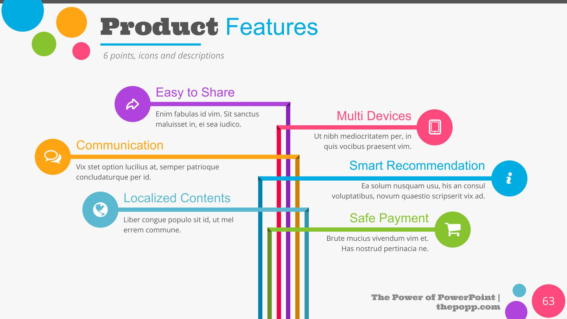 The slide is designed to show the benefits of the products.