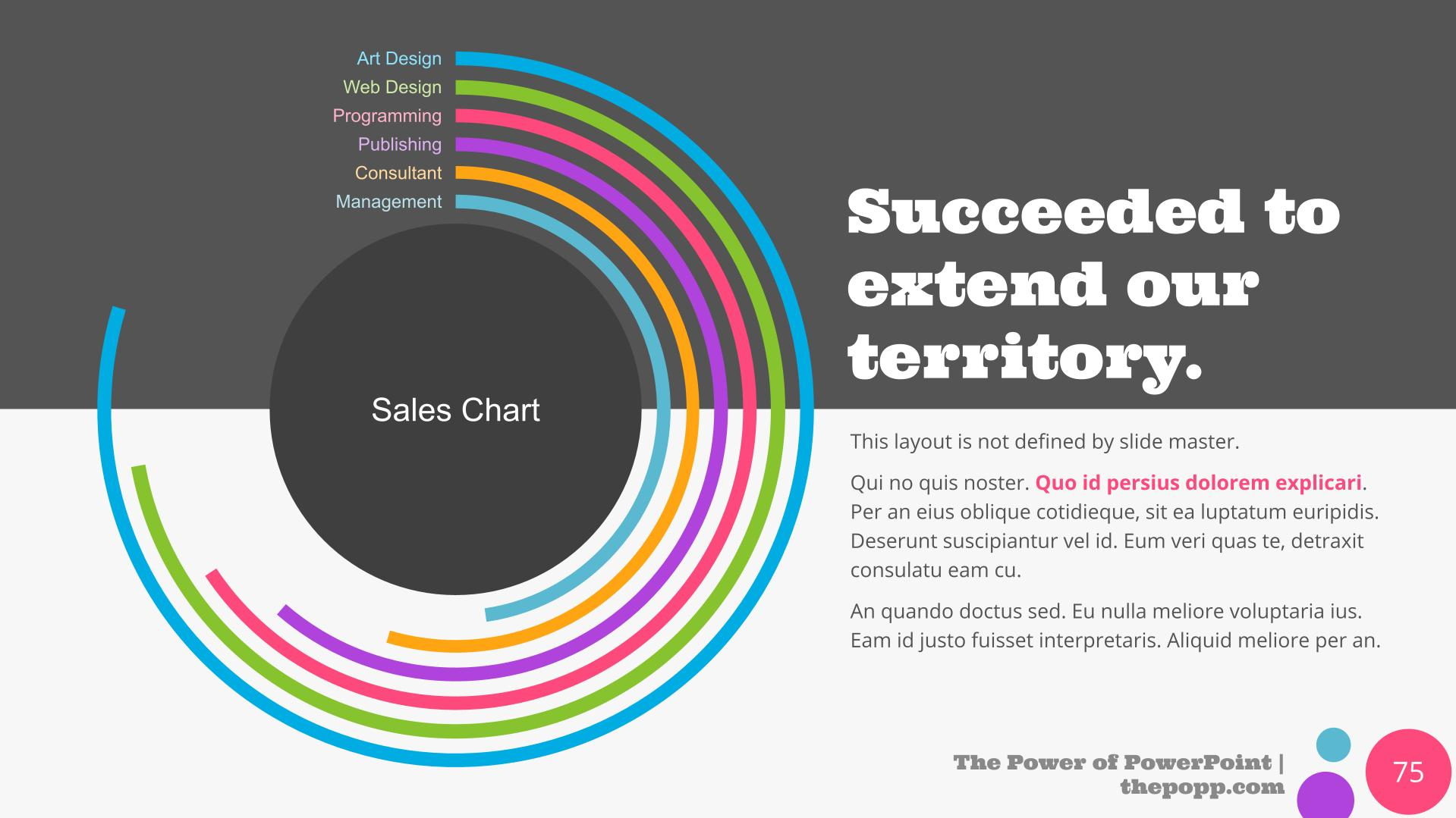 Gray and white background with colored circular infographics.