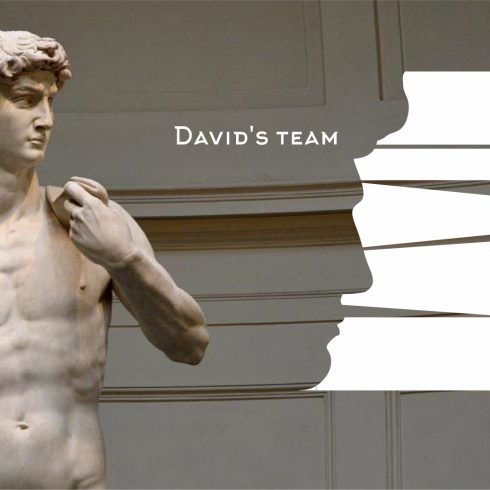 Creative Exclusive Logo «David's Team» Graphics element.