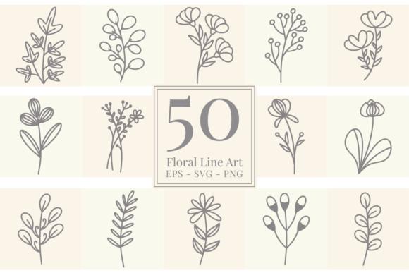 Floral Line Art Graphics 11127639 1 1 580x387 1