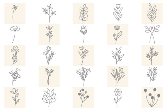 Floral Line Art Graphics 11127639 2 580x386 1