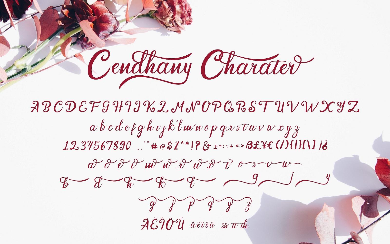 Hand Lettered Font Cendhany3