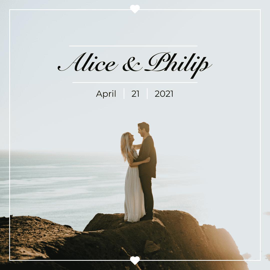 Wedding Instagram Template: 30 Posts