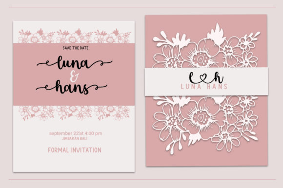 Lovely card in pastel colors with decorates.