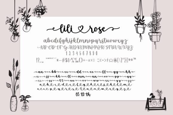 Alternative option of Lilirose Fonts with stylish decor.