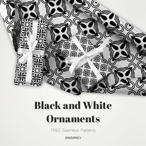 Black and White Ornaments Patterns Cover.