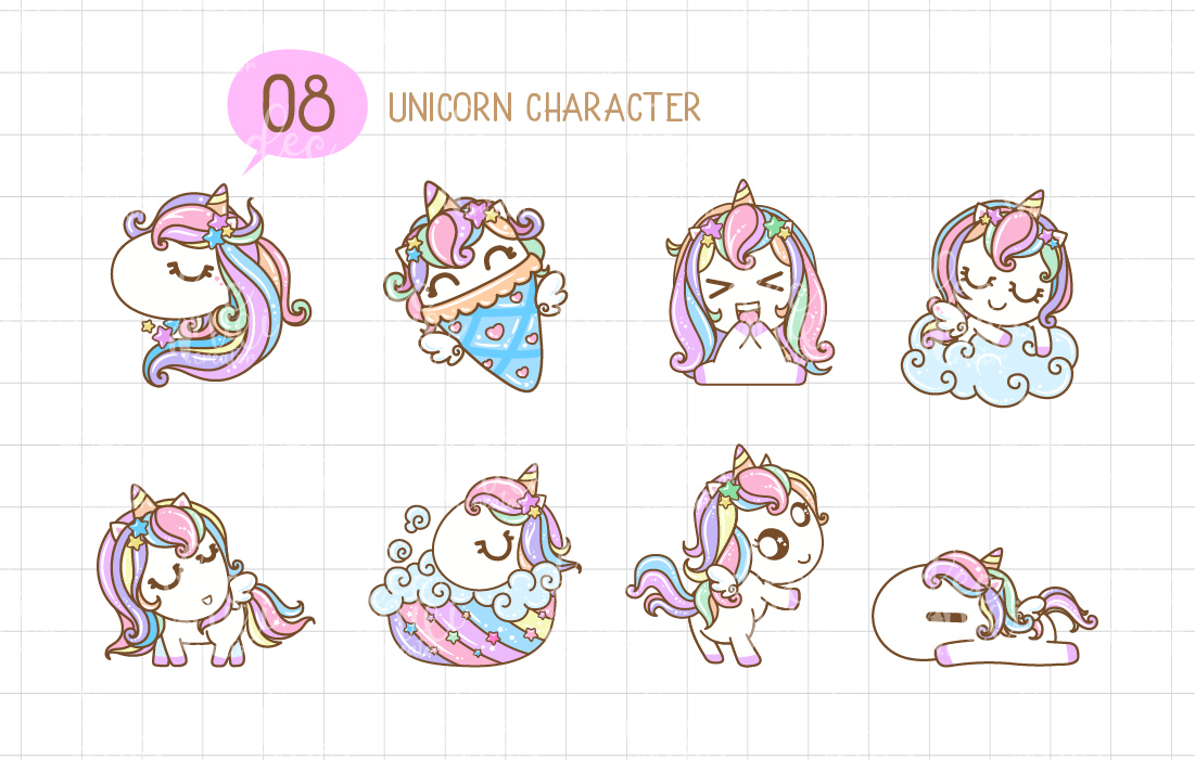 All emotions and life of one unicorn in a single picture.