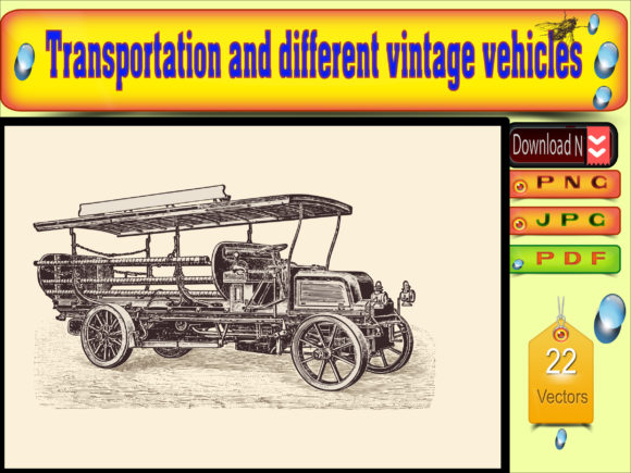 Vector of transportation vintage vehicle Graphics 11444133 1 1 580x435 1