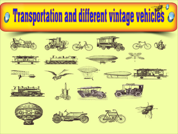 Vector of transportation vintage vehicle Graphics 11444133 2 580x435 1