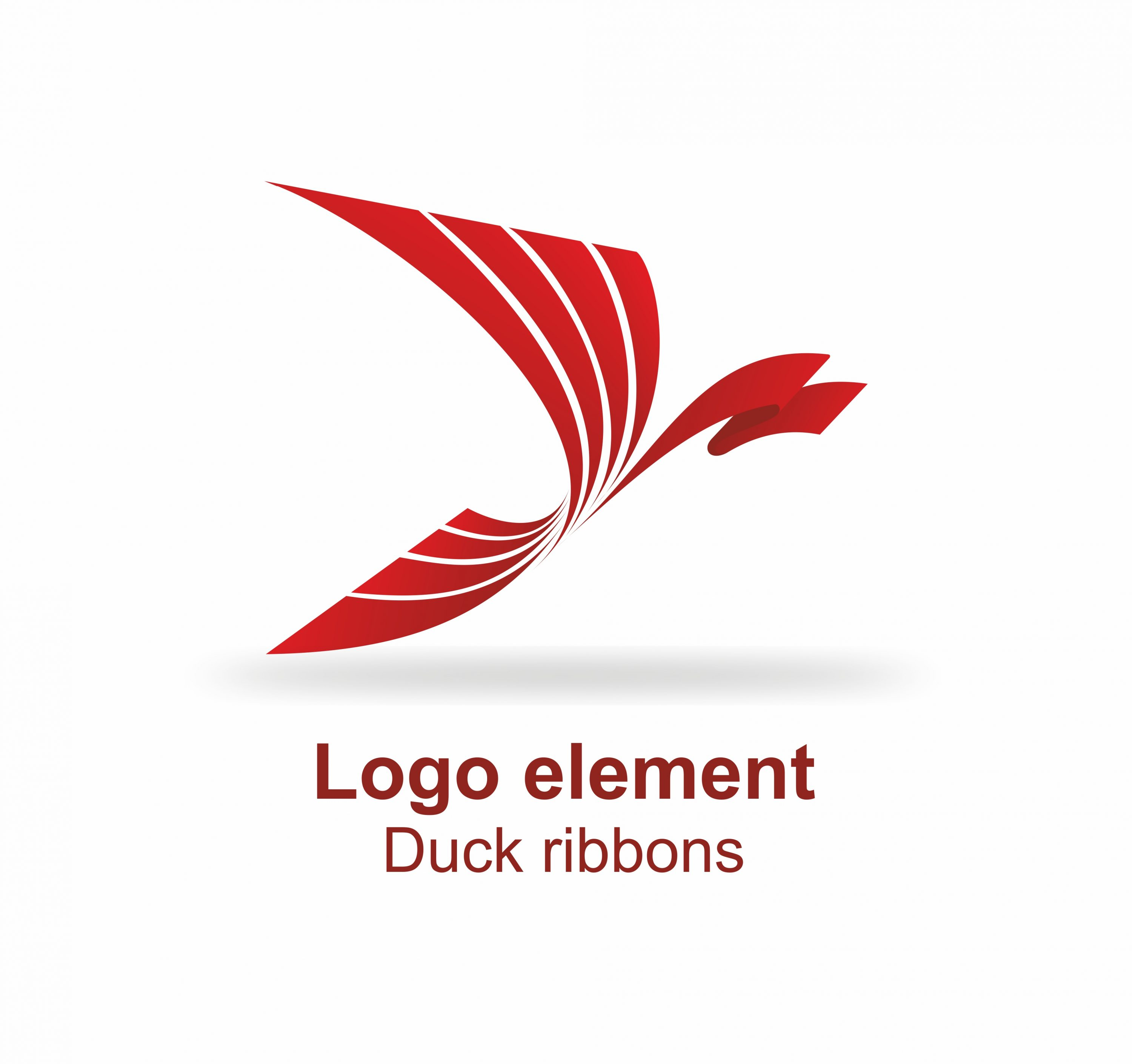 Logo element Graphics Duck Ribbons cover.