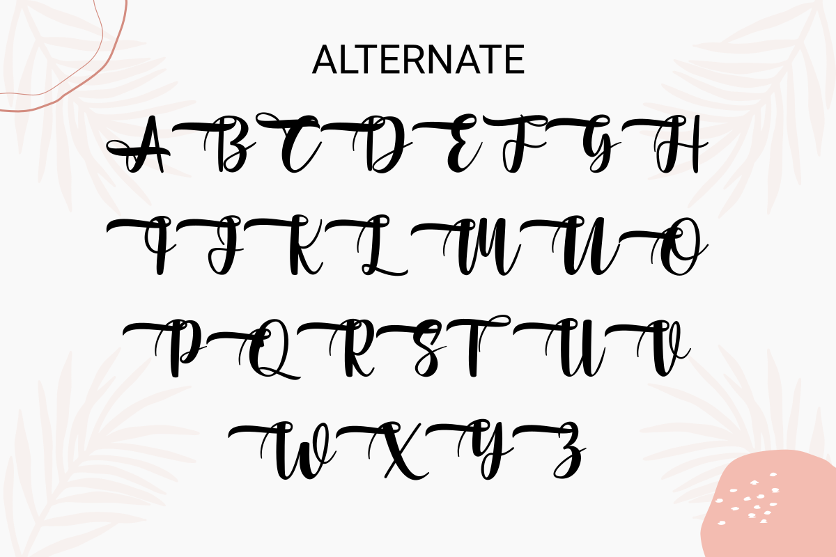 Alternative font with graphics.