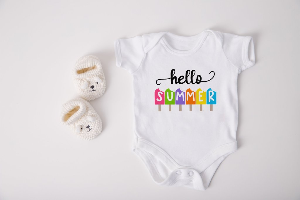 Small white jumpsuit for children.