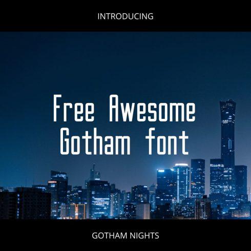 Free Awesome gotham font image.