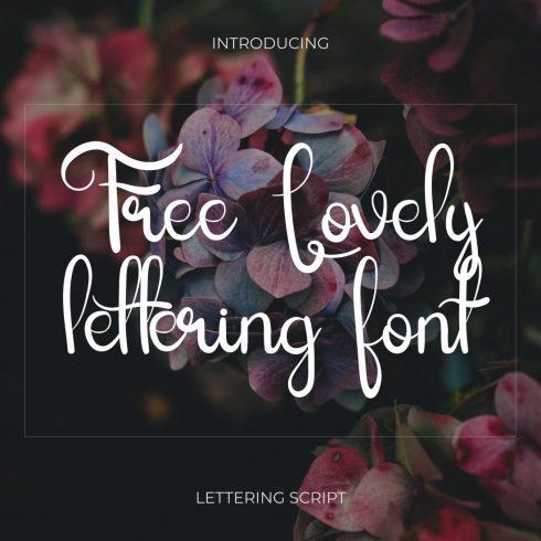 Free Lovely lettering font image.