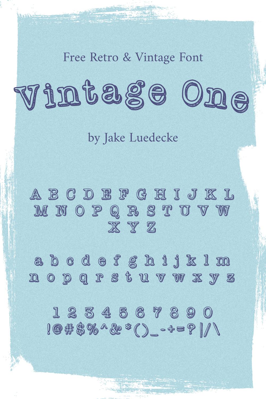 01 Free Retro vintage Font Pinterest