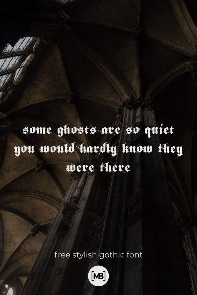 01 Free Stylish Gothic Font Pinterest