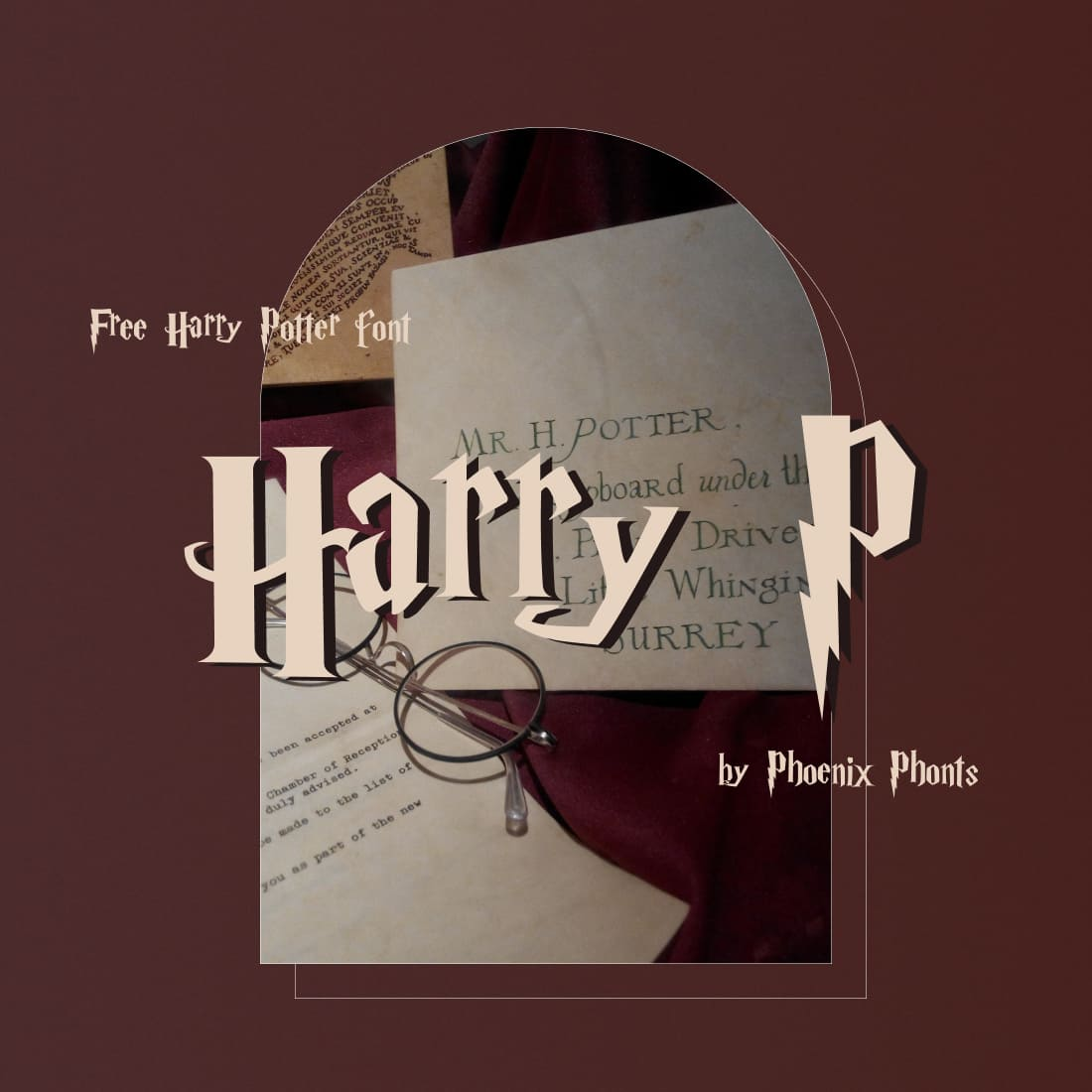 Preview image Free harry potter font.