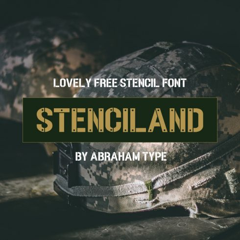 01 Lovely Free stencil font 1100x1100 1