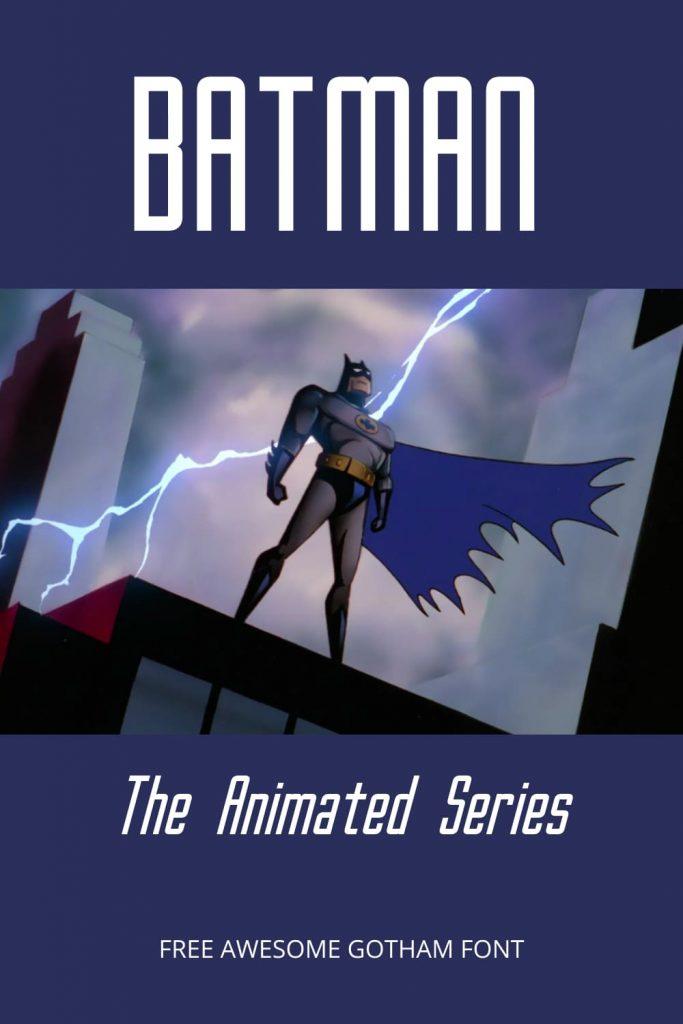 Batman with Gotham Font Free.