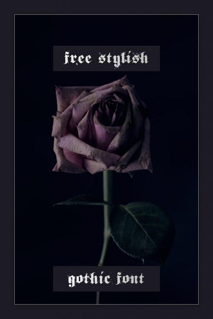 Stylish gothic font free.